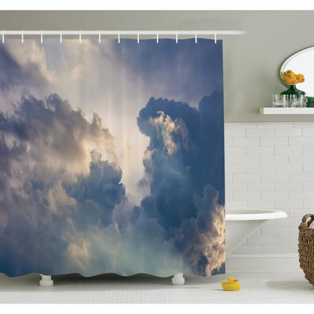 Ambesonne Nature Rain Storm Clouds Sky Shower Curtain -