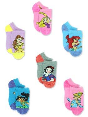 da89b0efcc0296 Product Image Disney Princess Girls Toddler 6 Pack No Show Socks Set  DP237GNS