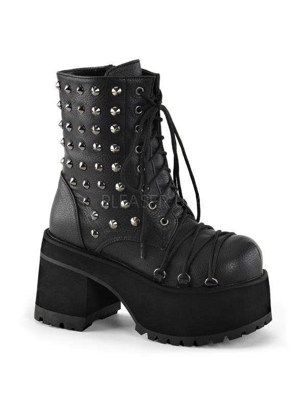 RANGER-208 Demonia Vegan Leather Boots Womens Blk Vegan Leather Vegan Size: 7 5d1e22