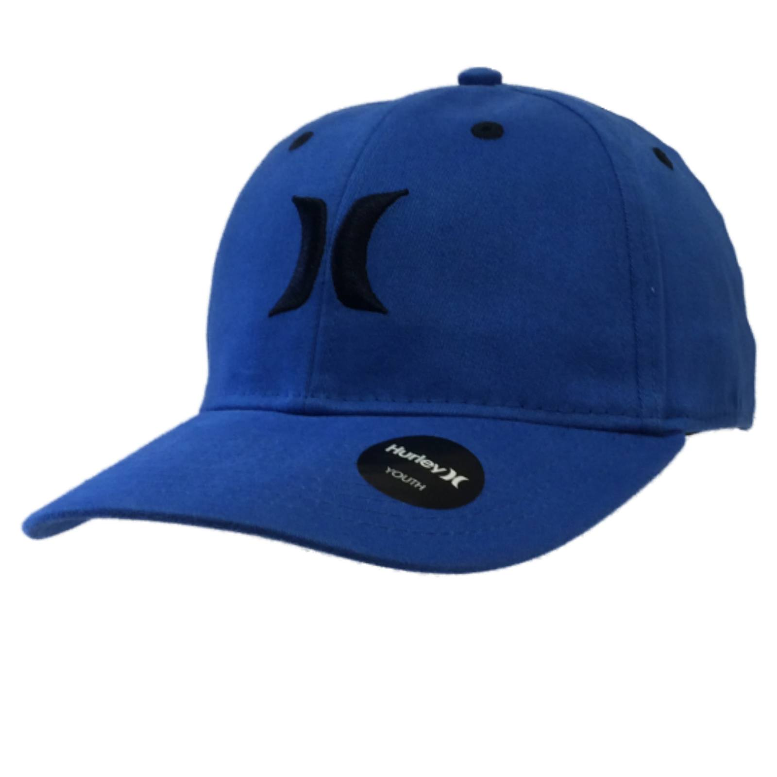 a2d76911 ... new zealand hurley youth boys royal blue black flexfit structured one  size hat cap bbbeb e8a24