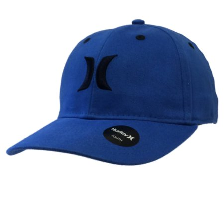 3af8dc4b Hurley YOUTH Boys Royal Blue Black Flexfit Structured One Size Hat Cap
