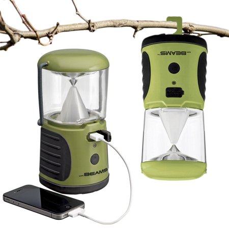 Mr. Beams LED Camping Lantern, 260 Lumen Battery Operated Emergency Lamp Light With USB Charger - Battery Operated Lantern