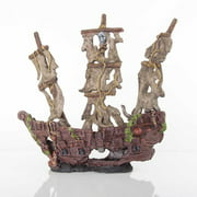 "BioBubble Decorative Mystery Pirate Ship, Large, 17"" x 6.25"" x 9.75"""