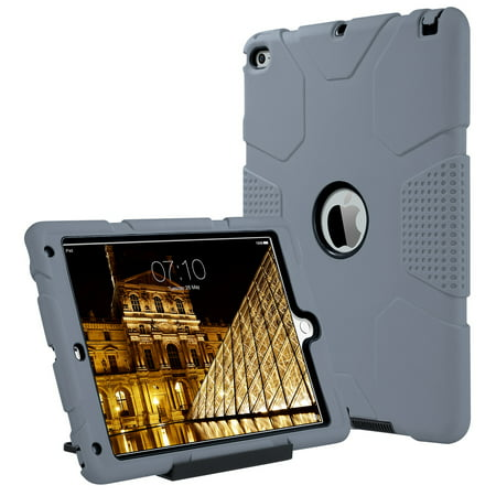 iPad Air 2 Case, ULAK Heavy Duty Apple iPad Air 2 Shockproof Rugged Protective Case with Separate Kickstand for Apple iPad Air 2 (2014