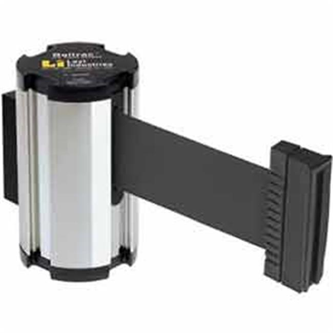 Lavi Industries 50-3010CL-BK Wall Mount 7 ft. Retractable Belt Barrier, Black