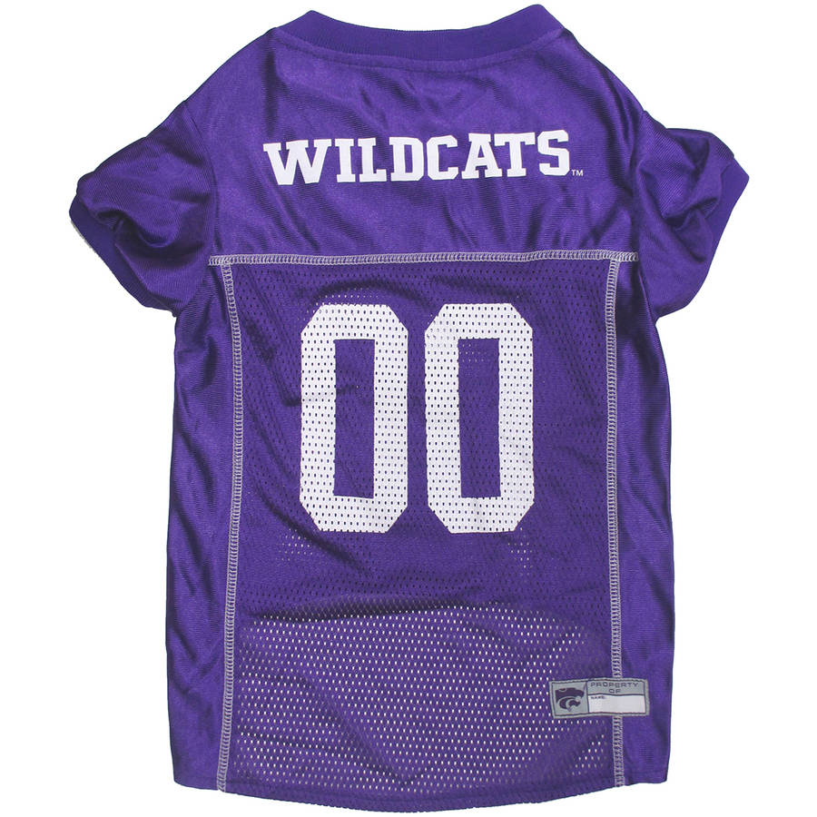Pets First College Kansas State Wildcats Collegiate Dog Jersey, Available in Various Sizes