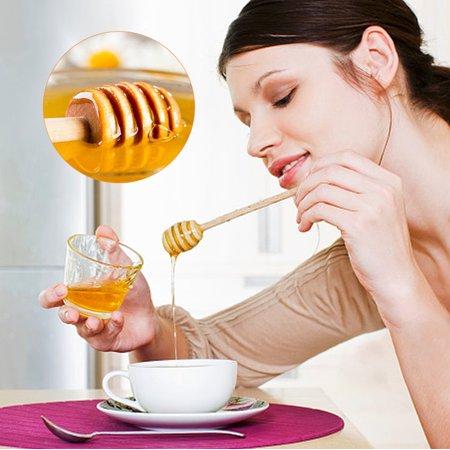 Yosoo 50pcs / set ménage en bois mini confiture miel louche jar distribution collecte bâton d'agitation bâton, louche de miel, bâtons en remuant - image 4 de 8