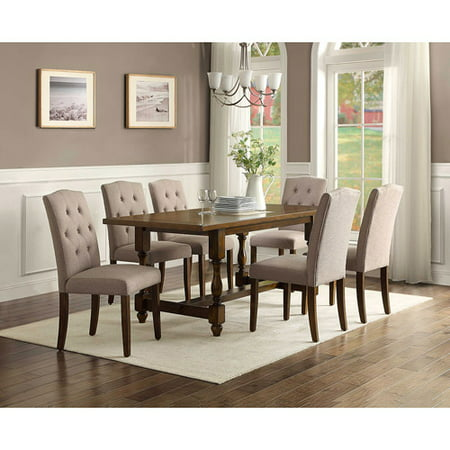 Better Homes and Gardens Providence 7 Piece Dining Set with Upholstered Chairs