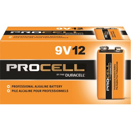 Duracell, DURPC1604BKD, Procell Alkaline 9V Battery - PC1604, Black Detector 9v Battery