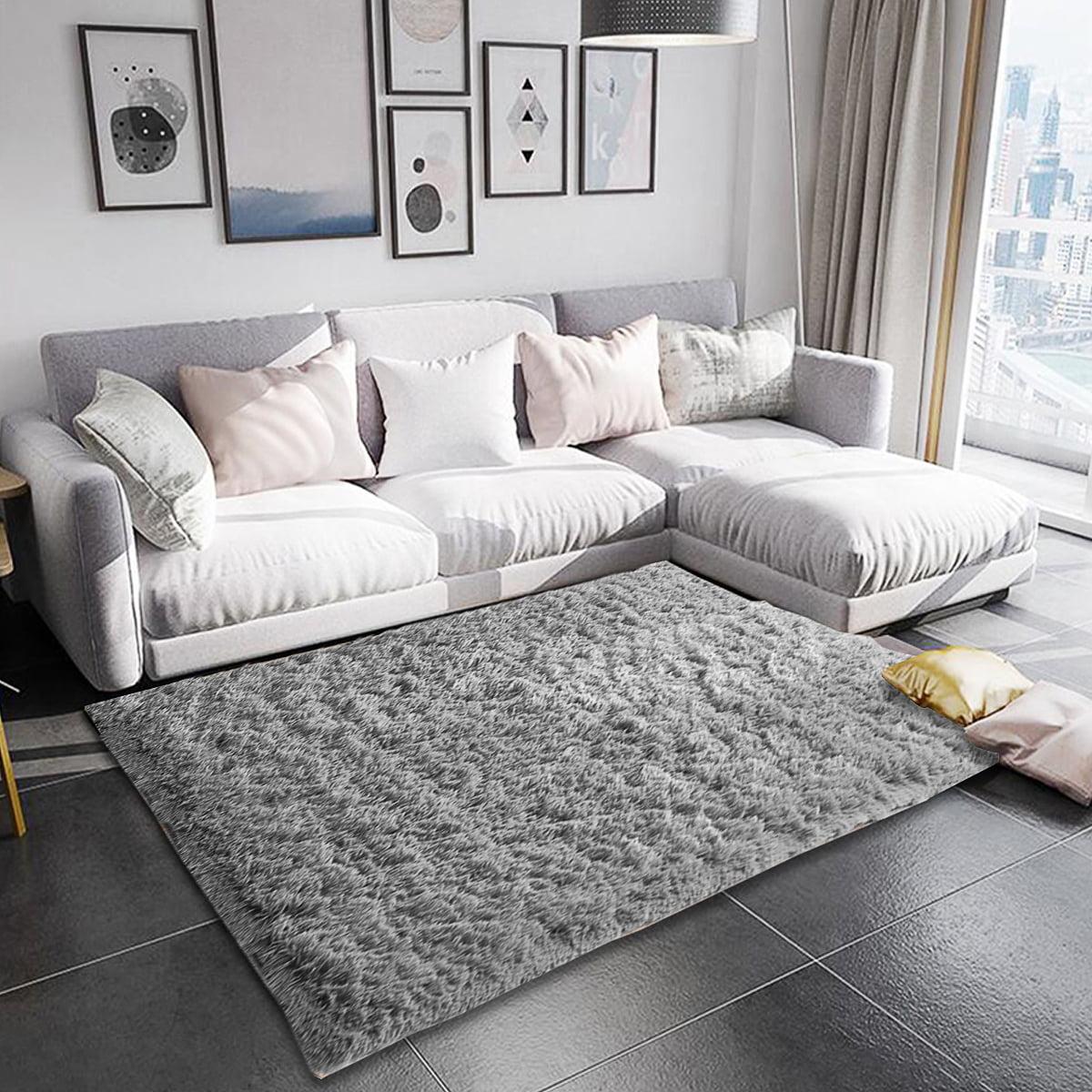 Luxury Large Rectangular Wool Shaggy Carpet Soft Breathable Fluffy Plush Carpet Floor Rug For Office Home Room Decor Camel Gray Purple Walmart Com Walmart Com