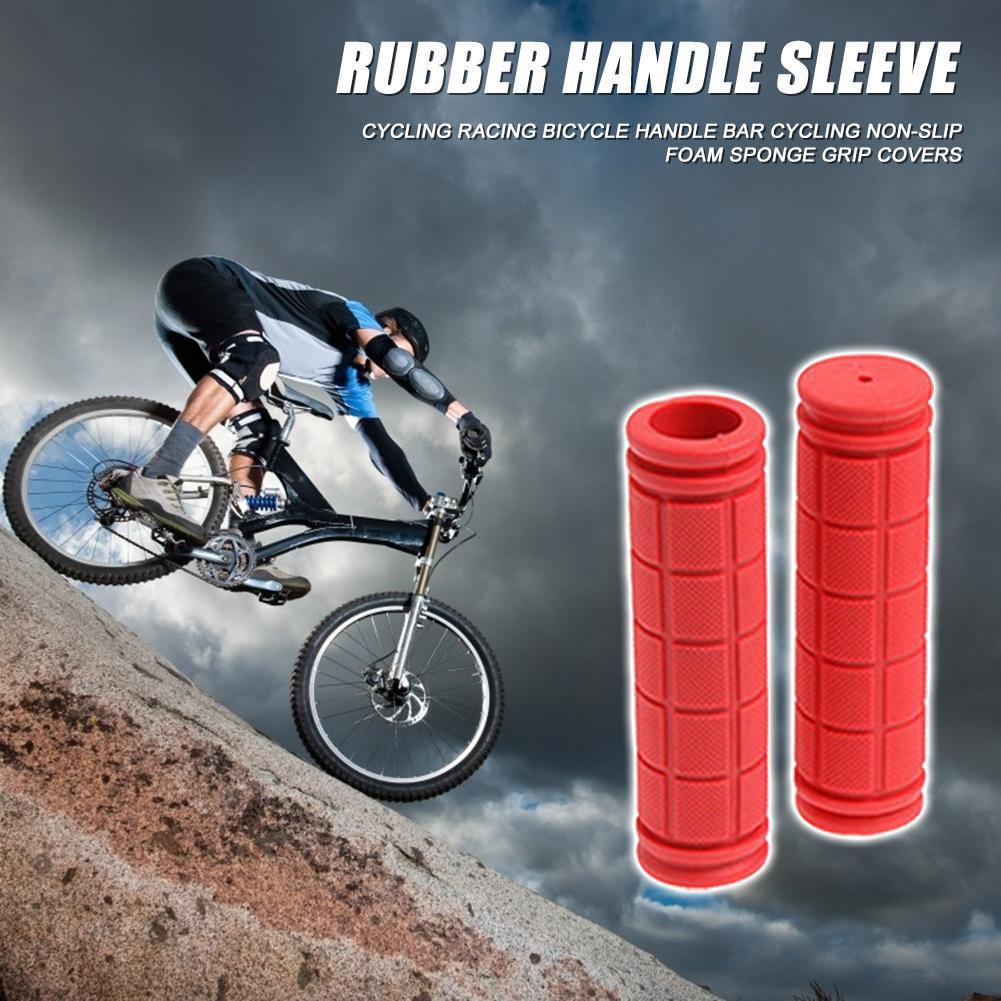 2x MTB BMX Road Bike Handlebar Grips Anti-Skid Silicone Fixed Gear Bicycle Grips