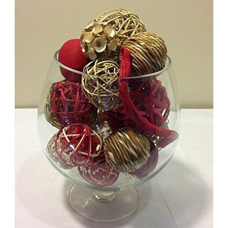 Jodhpuri Inc. Decorative Spheres (Red) Rattan Vase Filler ()