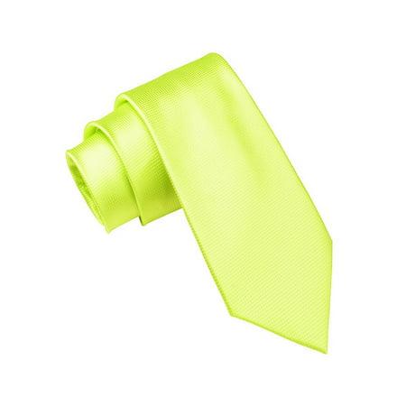 Mens Solid Color Tie 2 Inch Woven Wedding Necktie For Men