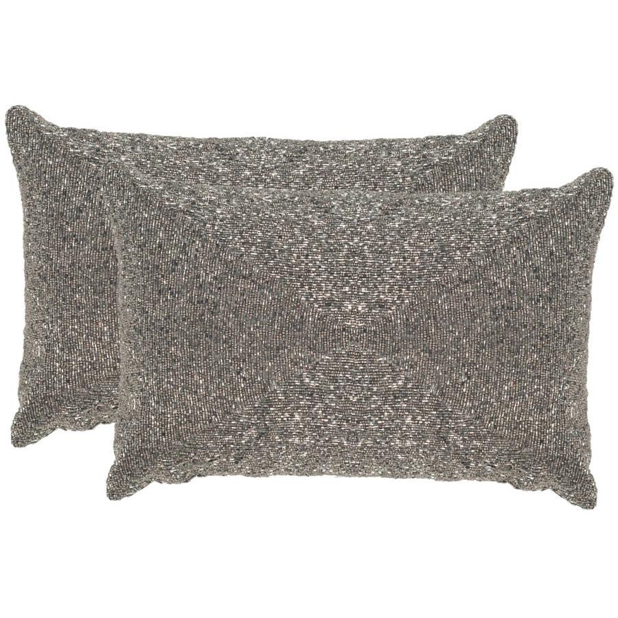 "Safavieh Glitter 12"" x 18"" Pillow, Set of 2"