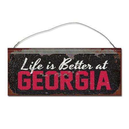 University of Georgia 'Life is Better' Tin Sign