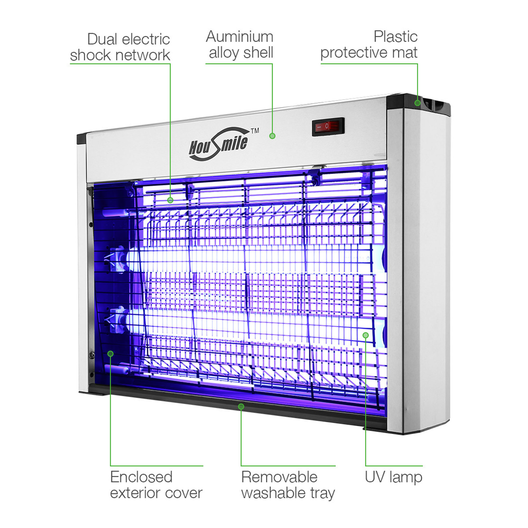 Housmile 20w Electronic Bug Zapper Insect Killer Mosquito Control Wiring Diagram Further Electric On Mosuiqto Fly