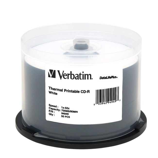 Verbatim 94949 DataLifePlus 52x CD-R Media