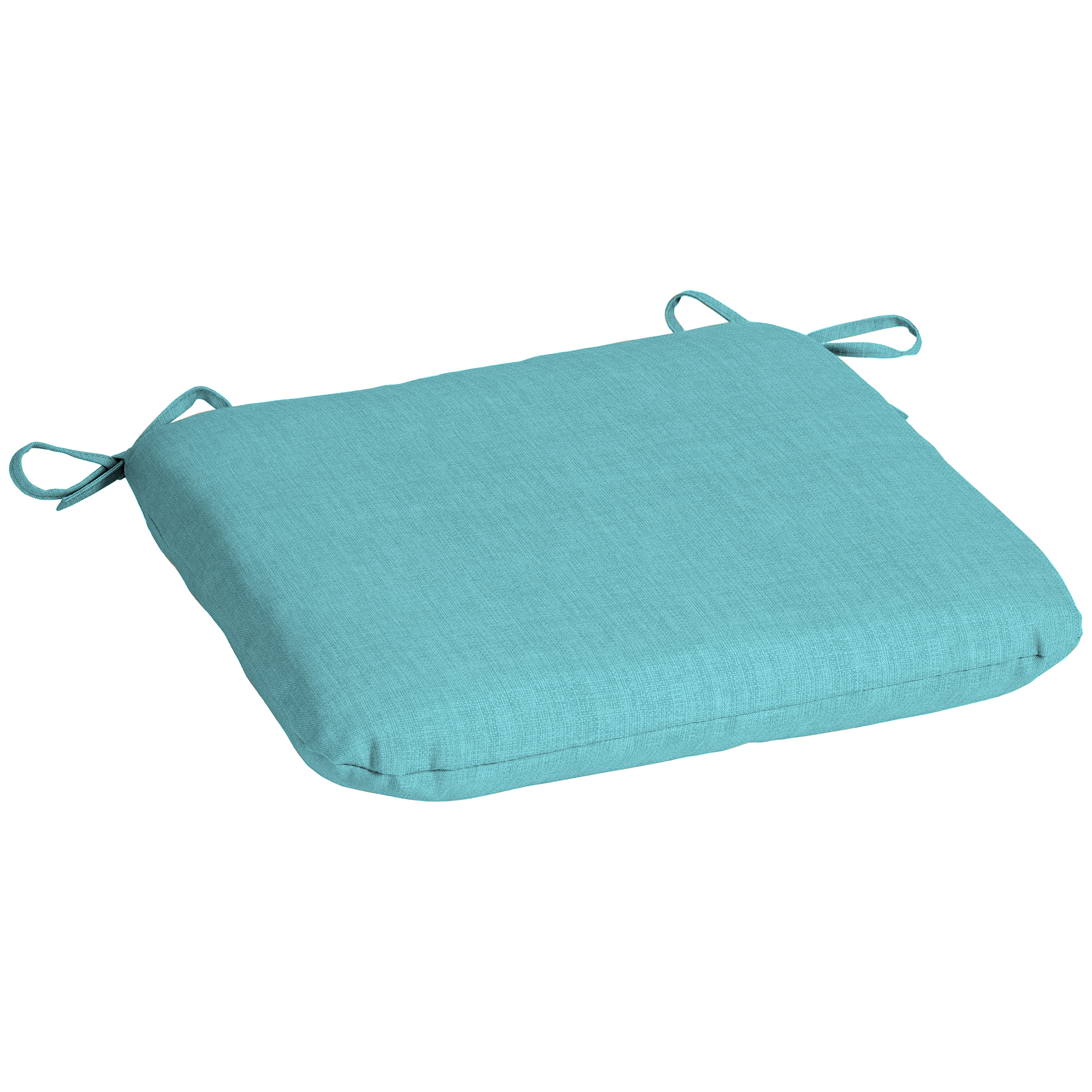 Mainstays Solid Turquoise Outdoor Patio Dining Seat Cushion