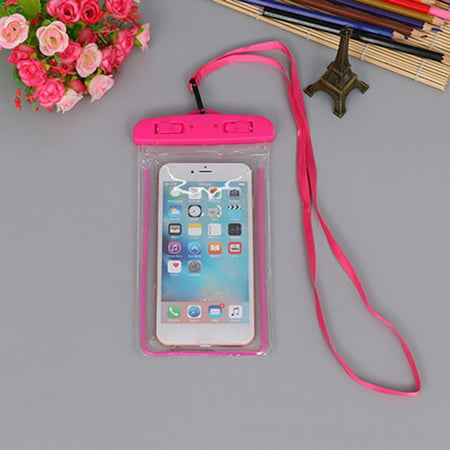 Outdoor Waterproof Phone Bag Luminous Universal Mobile Phone Case Neck Strap - image 1 de 6