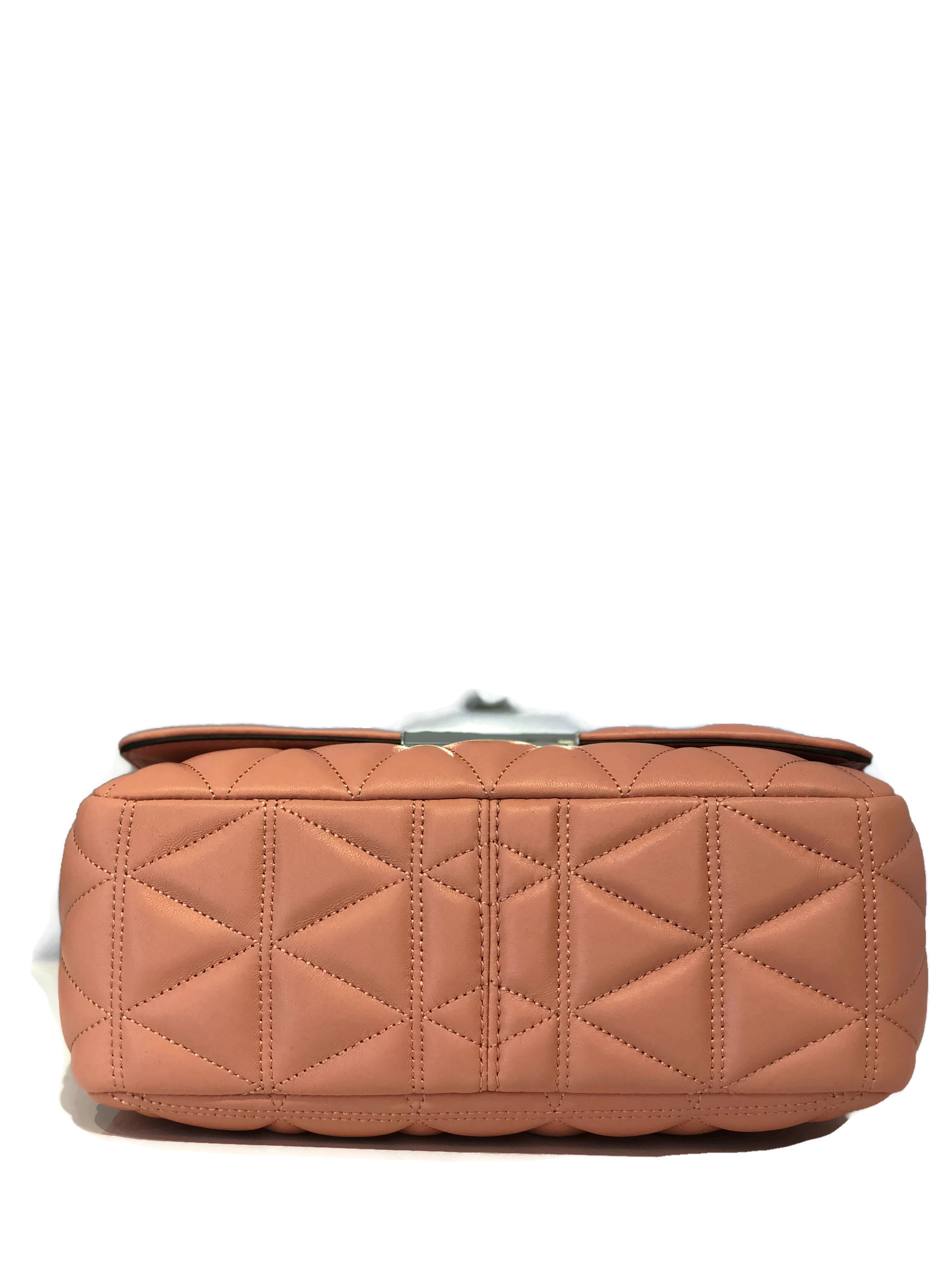 8f42aaf94e2d MICHAEL Michael Kors Vivianne Quilted Soft Leather Large Shoulder Flap Bag  - Peach - Walmart.com