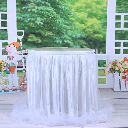 Mesh Gauze Table Skirt Tulle Table Yarn Skirt Wedding Celebration Supplies - image 4 of 9