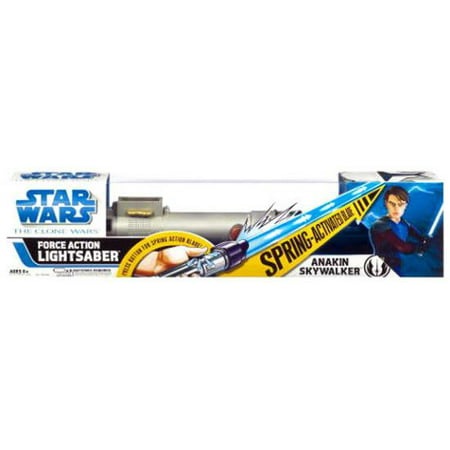 Star Wars Clone Wars Anakin Skywalker Force Action Lightsaber [Blue] - Blue Light Saber