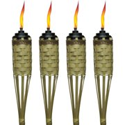 Tiki Brand 57 Barbados Bamboo Torch With Easy Pour System Natural Pack