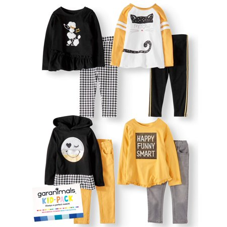 Garanimals Mix & Match Outfits Kid-Pack Gift Box, 8pc Set (Toddler Girls)