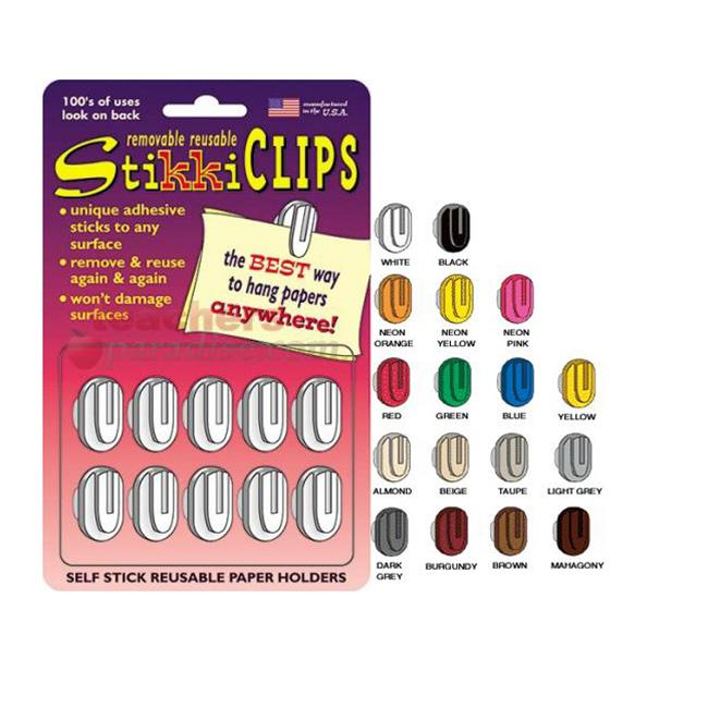 StikkiWorks 08101 Stikkiclips 20-Card - Neons - Pink-Yellow