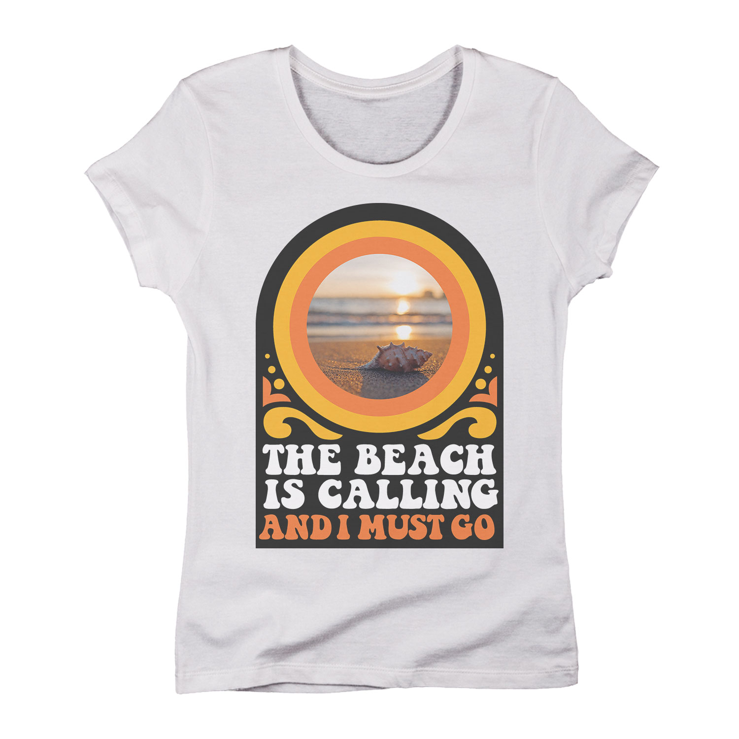 The Beach is Calling -Women LADIES SHORT SLEEVE TEE