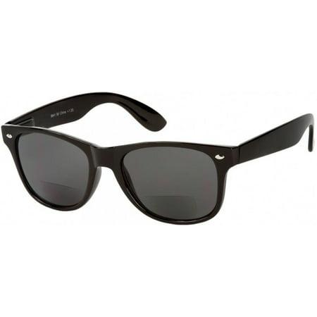Bifocal Lens Reading Sunglasses Sun Reader Power Glasses, Black (Sunglasses With Reading Glasses)