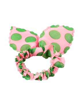 7ec31dd09a1 Green Dots imitated rabbit Ear Detail Stretchy Hair Band Holder Pink for  Ladies Girls. Unique Bargains
