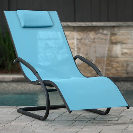 Wave Lounger, Aluminum, Sky Blue