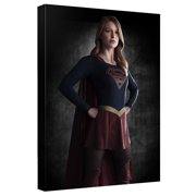 Supergirl Standng Proud Canvas Wall Art With Back Board