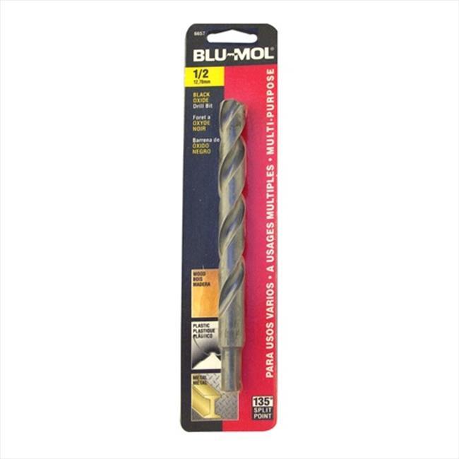 Disston 6657 Blu-Mol 0.5 In. Diameter Black Oxide Jobber Drill Bit