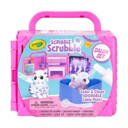 Crayola Scribble Scrubbie Pets Salon Kids Playset Ages (Winter Art And Craft Ideas For Toddlers)