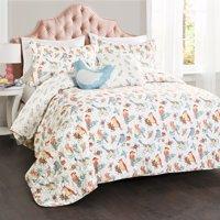 Chirpy Birds 4Pc Multicolor Quilt Set