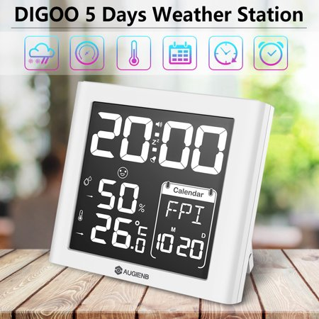 Wireless Weather Station, Digoo LED Screen Weather Forecast Station with Back-light Time Date Display Humidity Temperature Meter Monitor Thermometer Hygrometer