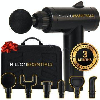 MillonEssentials V4SHARK 6 Speeds 6 Heads Deep Tissue Massage Gun