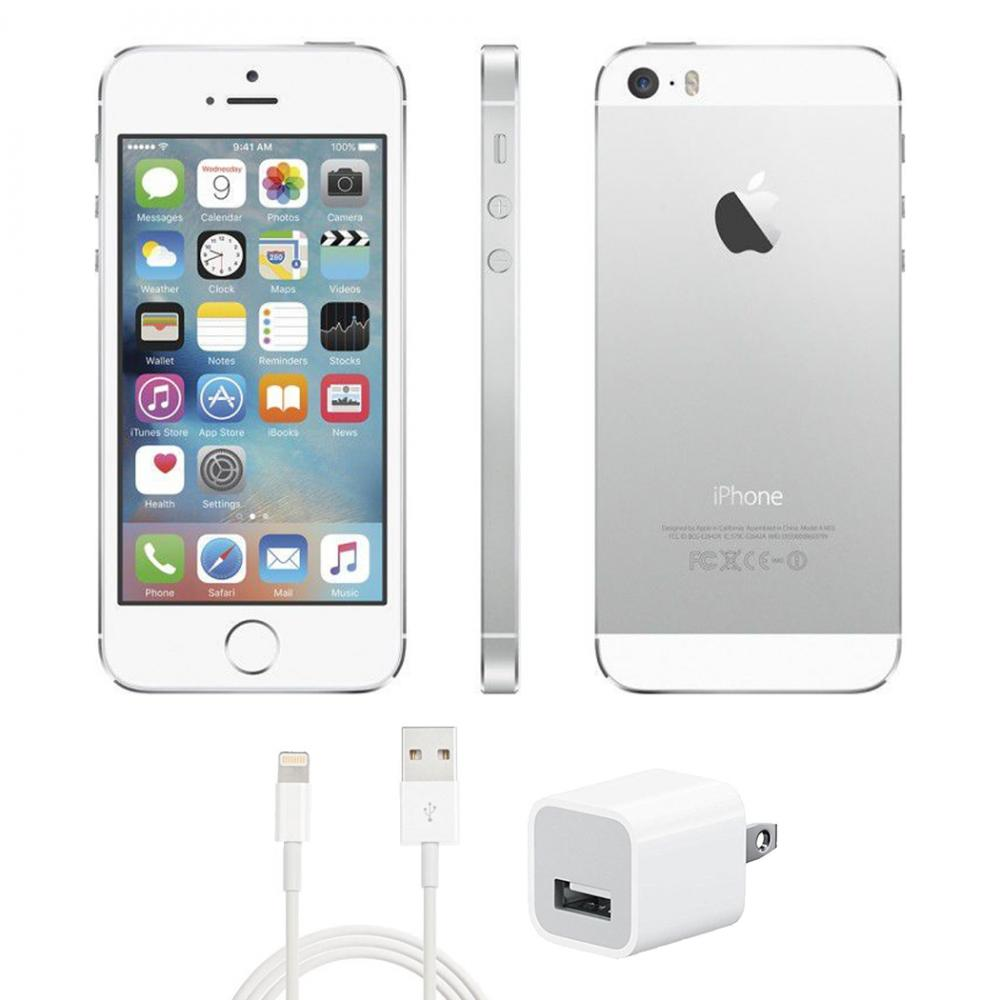 Refurbished iPhone 5S C Grade Silver 16 GB AT&T (Fair Condition).