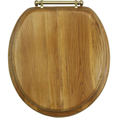 Deluxe Oak Wood Toilet Seat