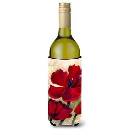 Red Tulip by Maureen Bonfield Wine Bottle Beverage Insulator Hugger BMBO0734LITERK