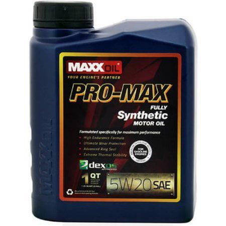 Maxx Oil 5W20 Pro Max Fully Synthetic Motor Oil - 1 quart