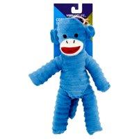 Vibrant Life Cozy Buddy Sock Monkey Dog Toy, Chew Level 1