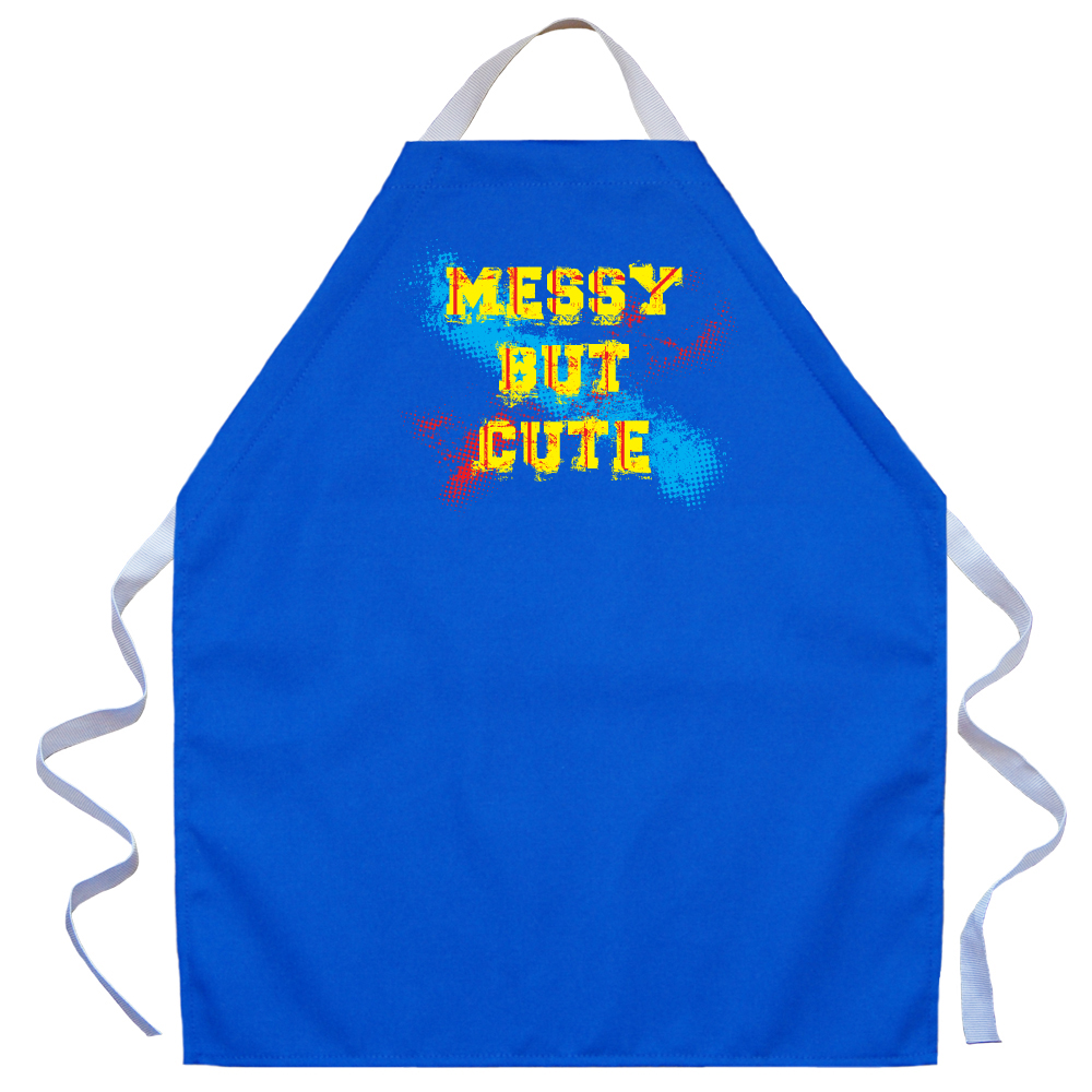 LA Imprints Aprons For Kids Boys Girls -Messy But Cute