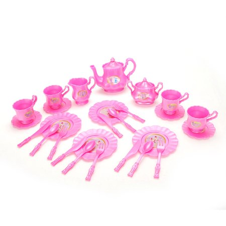 Princess Tea Party Set with Pink Tea Pots and Kitchen