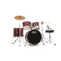 Mapex RB5044FTCDR Rebel 5-Piece Drumset w/ Hardware & Cymbals - Dark Red