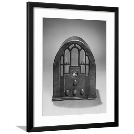 Old Time Zenith Model 805 Cathedral Style Am Radio 1935 Framed Print Wall (Cathedral Style Radio)