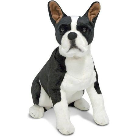 Melissa & Doug Giant Boston Terrier, Lifelike Stuffed Animal Dog
