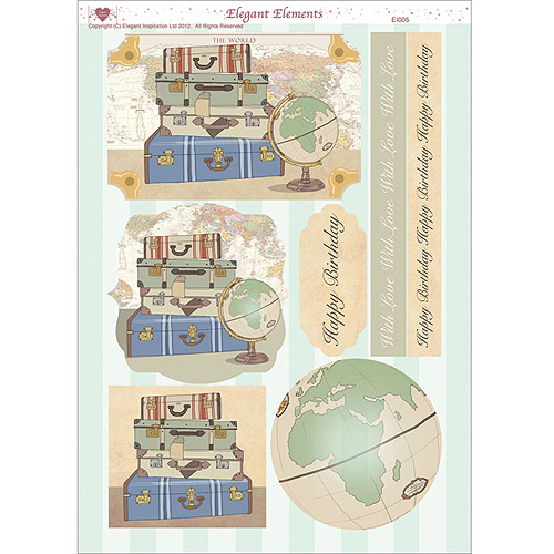 "3D Die-Cut Decoupage Sheet, 8.3"" x 11.69"""